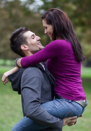 Happy young couple in love Stock Photo - 9689171