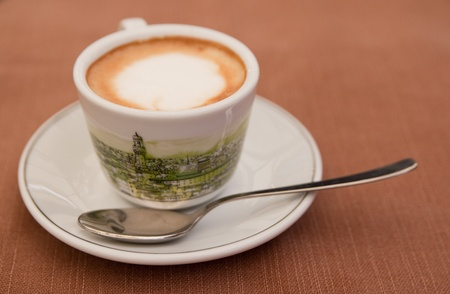 Macchiato on the table in a bar Stock Photo - 9878746