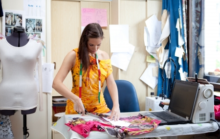 Authentic image of a tailor   fashion designer working Stock Photo - 22410879