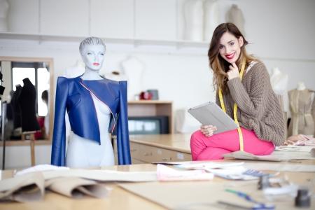 Fashion designer in her studio Stock Photo - 17718572