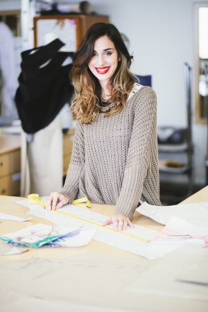 Fashion designer working in studio photo