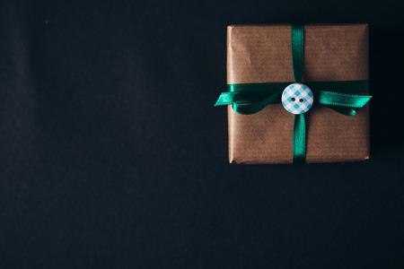 christmas gift box: Trendy Christmas gift present box Stock Photo