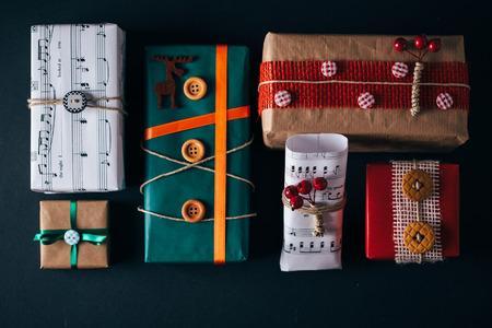 christmas gifts: Hip Christmas gifts presents box Stock Photo