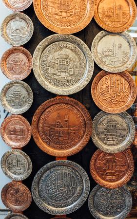 pottery: Souvenir platters at Baščaršija maket in Sarajevo