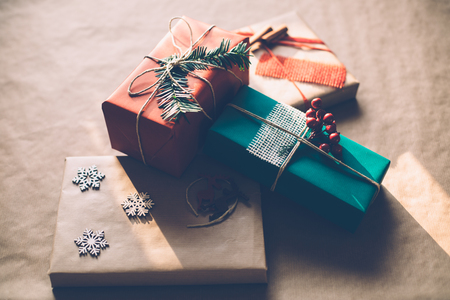 Minimalistic cool hip Christmas presents