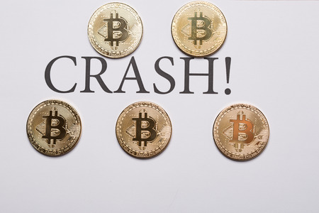 Bitcoin and crypto currencies crash concept