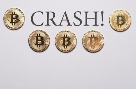 Bitcoin and cryptocurrencies crash concept Stock Photo