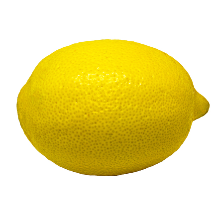 Yellow lemon isolated on a white background