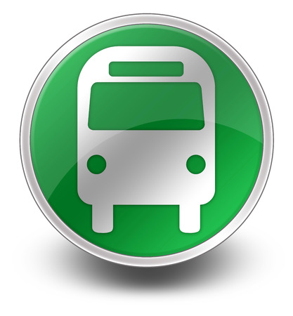 busses: Icon Button Pictogram Bus Ground Transportation Stock Photo
