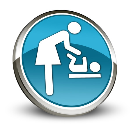 baby changing sign: Icon Button Pictogram Baby Change