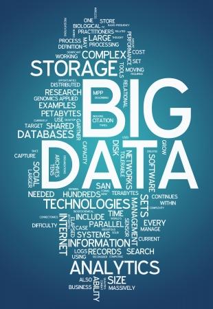 単語雲ビッグデータ 写真素材