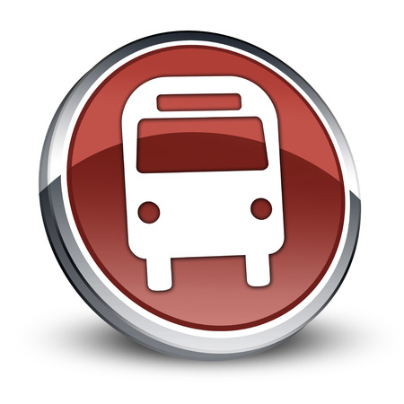 transporte terrestre: Icono del botón Pictograma autobuses Transporte Terrestre Foto de archivo