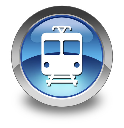 Icon Button Pictogram Train Mass Transit