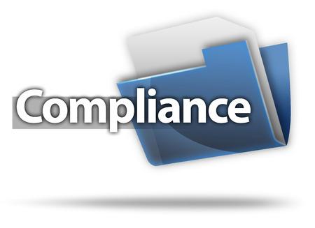 3D-Style Compliance-Ordner Lizenzfreie Bilder