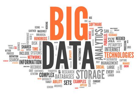 Nuage de mot de Big Data Banque d'images - 25893964