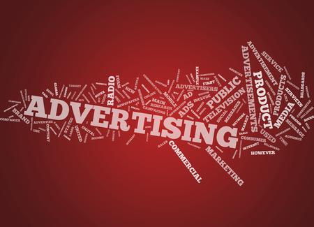 advertisers: Word Cloud Advertising Stock Photo