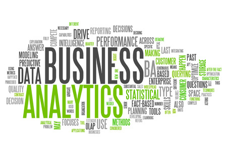Word Cloud Business Analytics Stock Photo