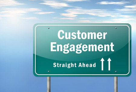 Highway Signpost Customer Engagement
