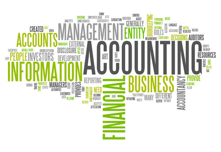 auditors: Word Cloud with Accounting related tags Stock Photo