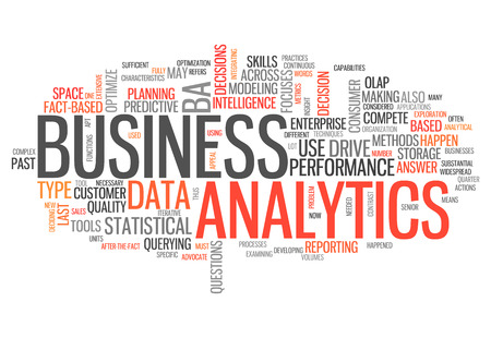 Word Cloud with Business Analytics related tags