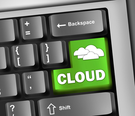 Keyboard Illustration Cloud Computing illustration