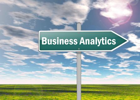 quantitative: Signpost Business Analytics Stock Photo
