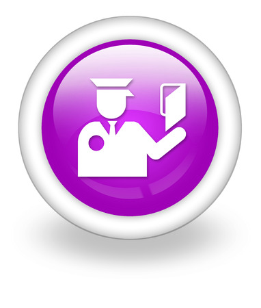 checkpoint: Icon, Button, Pictogram with Immigration symbol