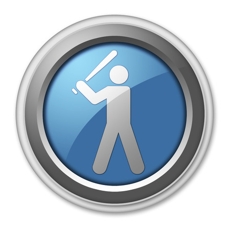 hitter: Icon, Button, Pictogram with Baseball symbol