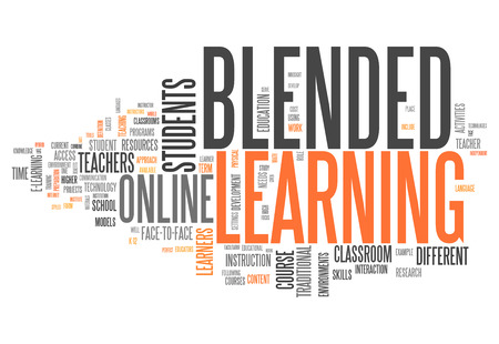 Icon, Button-Piktogramm Blended Learning