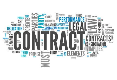 tratados: Nube de la palabra con las etiquetas relaciona el contrato con