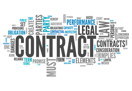 obligations: Word Cloud with Contract related tags