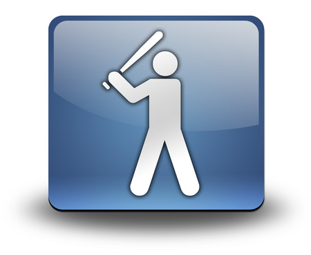 inning: Icon, Button, Pictogram with Baseball symbol