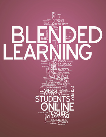 Word Cloud Blended Learning