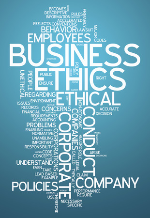 ethics: Word Cloud with Business Ethics related tags