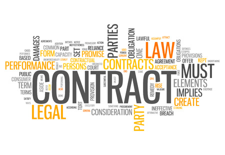 Word Cloud with Contract related tags photo