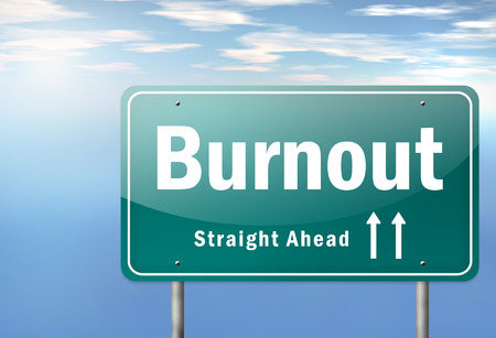 burnout: Highway Signpost with Burnout wording