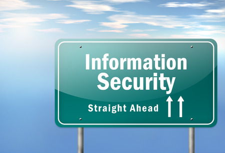 vulnerabilities: Highway Signpost with Information Security wording