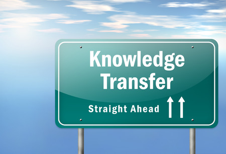 know how: Highway Signpost Knowledge Transfer Stock Photo