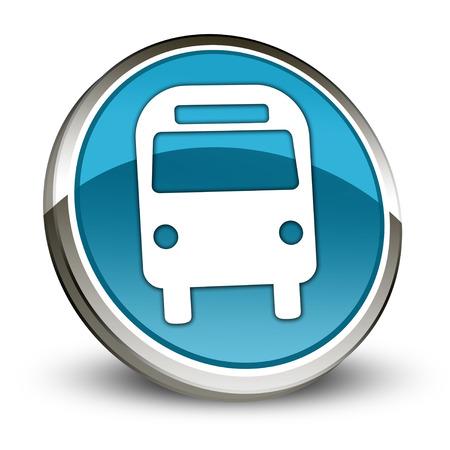 transporte terrestre: Icono, botón, Pictograma Bus, Transporte Terrestre