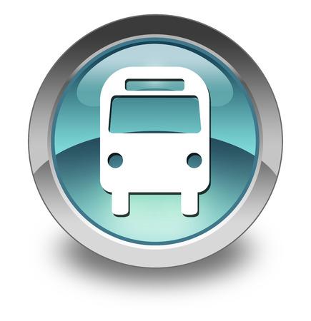 transporte terrestre: Icono, bot�n, Pictograma Bus, Transporte Terrestre