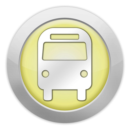 Icon, Button, Pictogram Bus, Ground Transportation