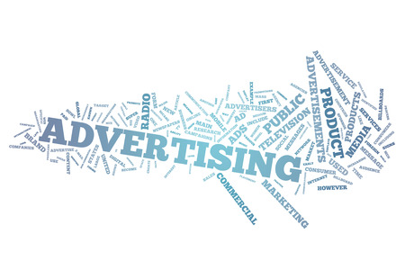 Word Cloud Advertising Stock Photo