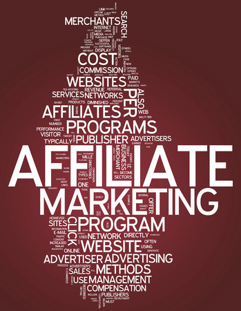 referrals: Word Cloud Affiliate Marketing Stock Photo