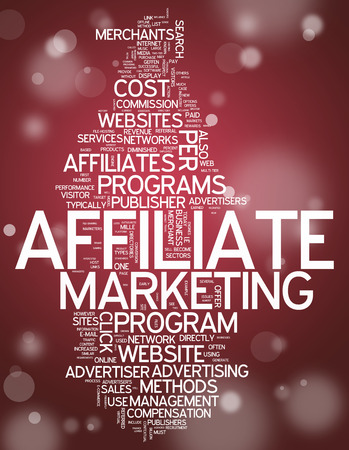 publisher: Word Cloud Affiliate Marketing Stock Photo