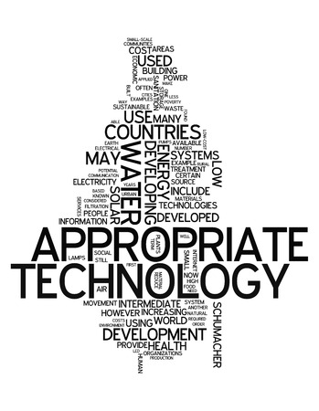 appropriate: Word Cloud Appropriate Technology Stock Photo