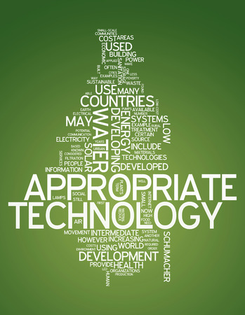 ideological: Word Cloud Appropriate Technology Stock Photo