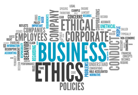 ethos: Word Cloud with Business Ethics related tags