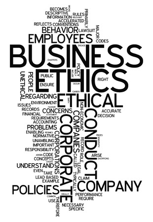 business ethics: Word Cloud with Business Ethics related tags