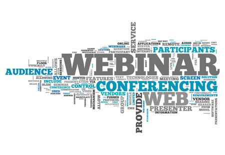 webcast: Word Cloud Webinar Stock Photo