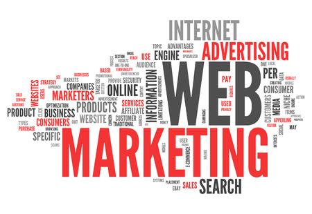 referidos: Nube de la palabra Web Marketing
